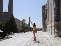 minarette-forced perspective uzbekistan