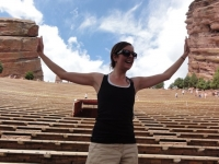 forced perspective red rocks colorado