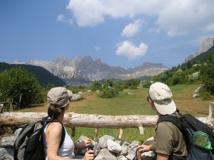 ecotourists in the north, Theth Albania