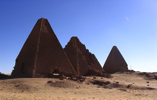 The Pyramids of Gebel Barkal, Sudan. Photo courtesy of flickr/shovelingtom