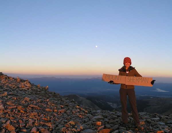 Mount Sherman summit at dawn, September 2012