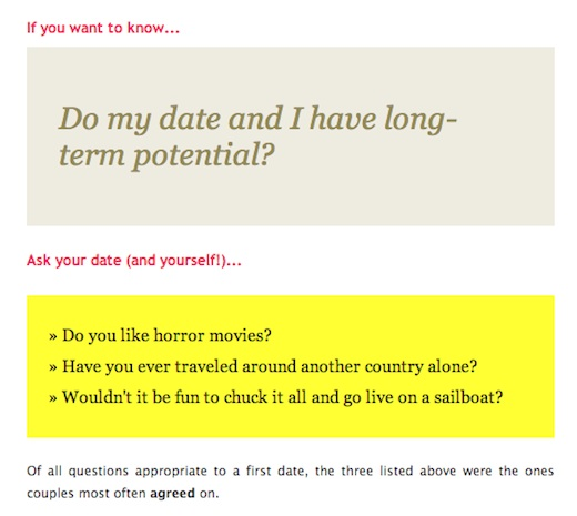Questions to ask when u first start dating