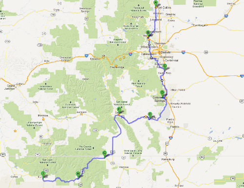 BABRAC route overview