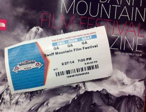 Banff Mountain Film Festival ticket