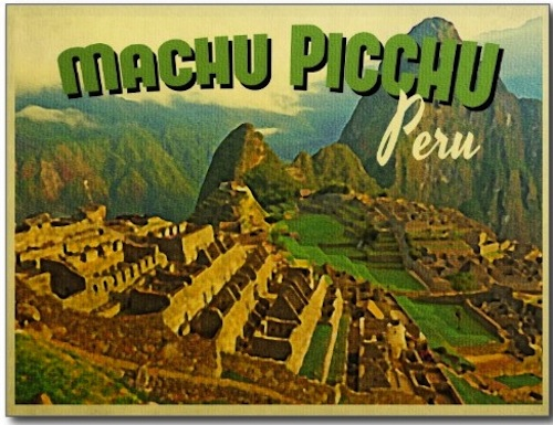 postcard from machu picchu